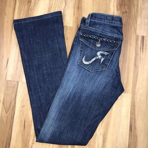 Rock & Republic  boot cut jeans stud detail Sz 2M